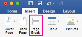add a page break in word for mac word for mac