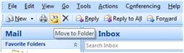Move to folder button on Outlook 2007 menu