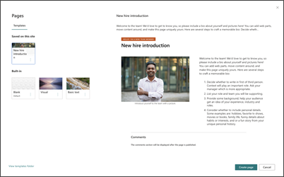 Image of the new employee introduction news post template