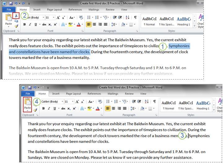 Word 2010 document