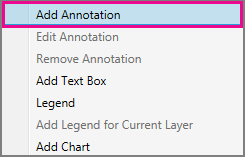 Add Annotation command on the shortcut menu