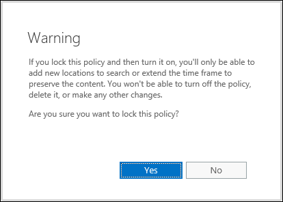 Warning about locking a policy