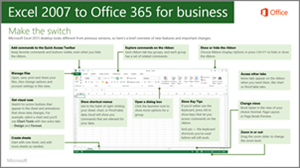 Thumbnail for guide for switching from Excel 2007  to Office 365