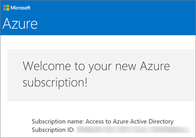 This is what the email from the Azure Accounts Team looks like.