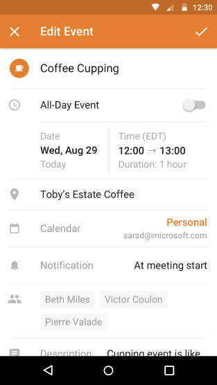 Time picker on Android