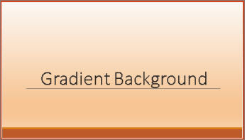 Example of a gradient slide background