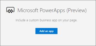 Use the PowerApps web part - SharePoint