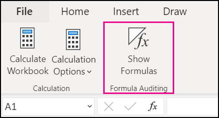 Show Formulas in the web