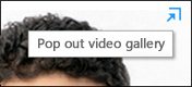 Screenshot of Pop out video gallery