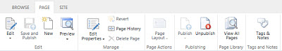 SharePoint Online Public Website Page tab