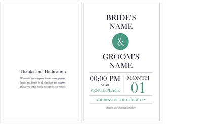 Conceptual image of a wedding program