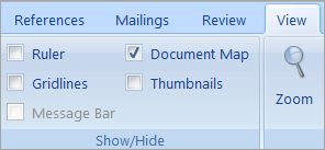 The Document Map check box