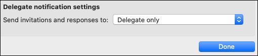 Delegate notification options.