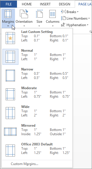 Set Mirror Margins For Facing Pages Word