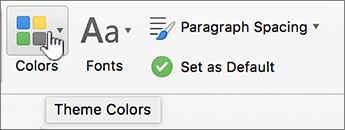 Design page Color's button