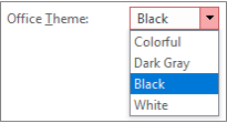 List of Office themes
