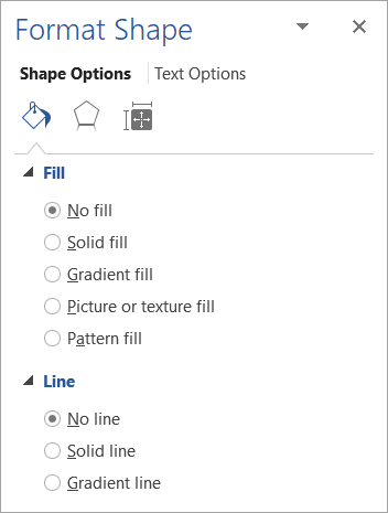 Selecting no fill and no line for a text box
