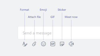 Emoji, GIF, stickers, and other options