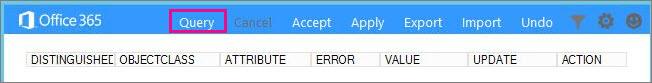 Choose query in IdFix.