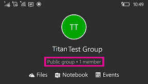 Tap public group to add members