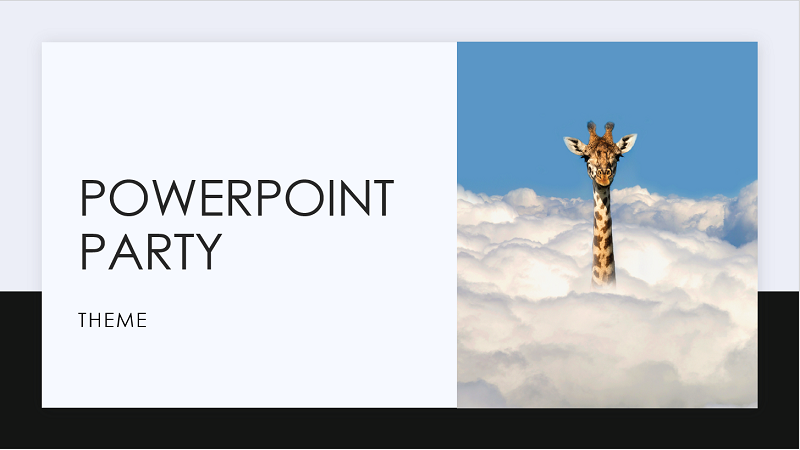 Screenshot of the cover of a PowerPoint Party template.
