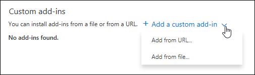 Custom add-ins