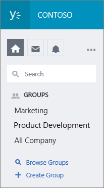 Yammer groups