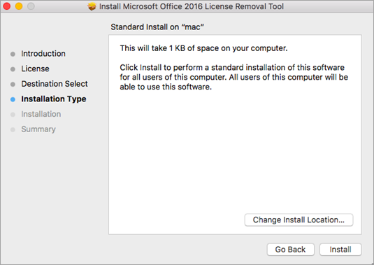 Click Install on the tool to remove licenses.