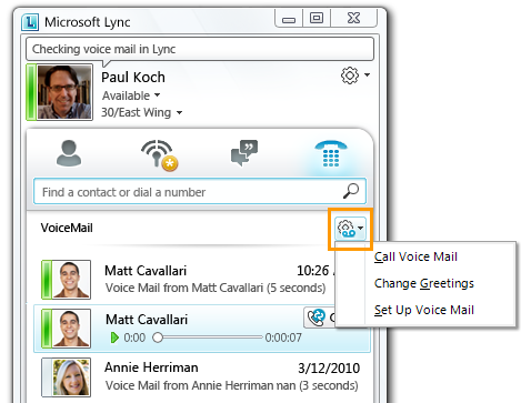 Voice Mail Options