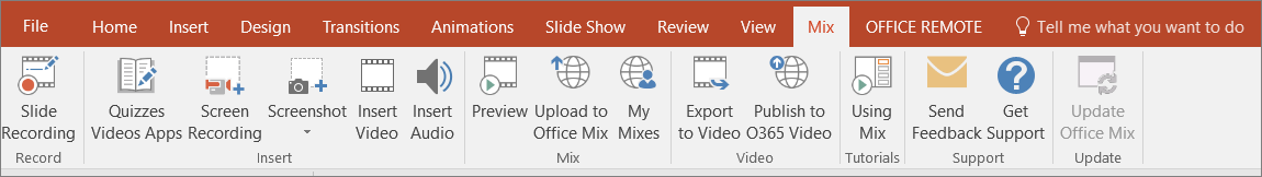 PowerPoint2016 Mix Ribbon
