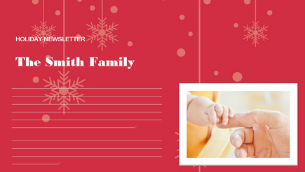 image of a holiday newsletter