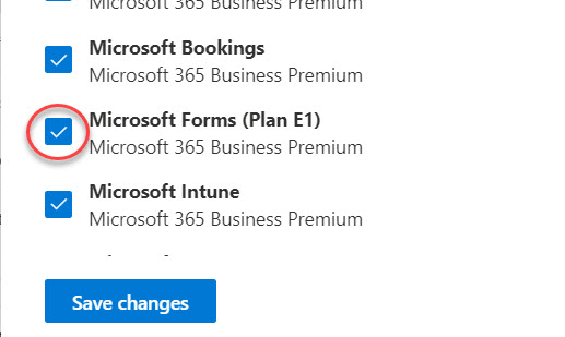 Microsoft Forms toggle