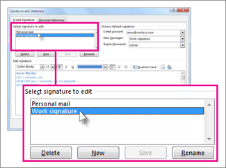 Change An Email Signature Outlook