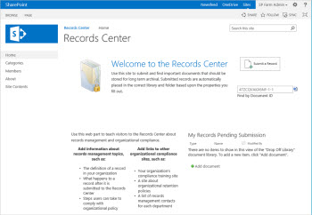 Record Center Template