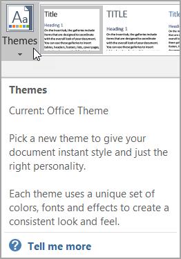 Enhanced ScreenTip with Help option