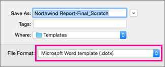 In The Save As Box, Word Template Is Highlighted  Ms Word Fax Template