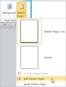 Selecting Edit Master Pages on the Master Pages menu