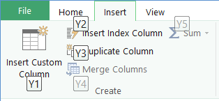 Query Editor Ribbon KeyTips