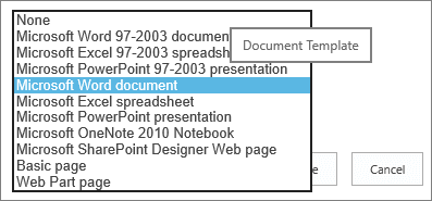 Set a custom template for a sharepoint library office support select a template toneelgroepblik Images