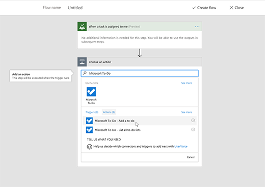 Screenshot showing Microsoft To-Do selected