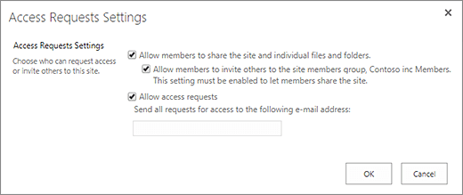 Access request panel