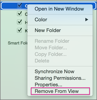 Remove from view