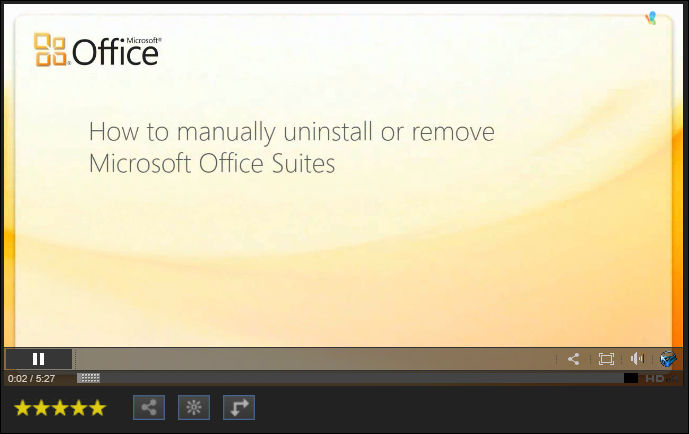 How to manually uninstall Office 2010