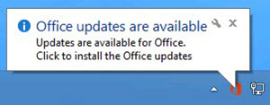 Office updates are available