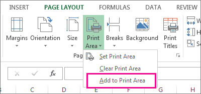 Add to Print Area