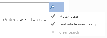 Find and replace options, expanded