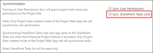 Sync SharePoint Tasks Lists