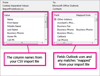 Map Custom Fields dialog box