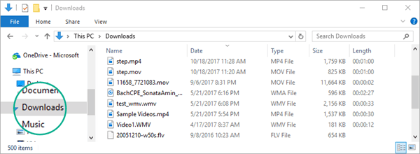 The converted file is copied to your computer's Downloads folder