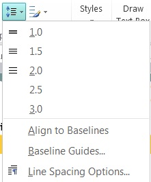 Change the line spacing in Publisher